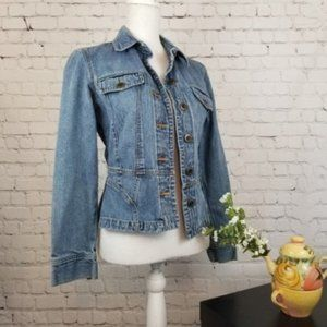 The Limited Structured Jean Jacket Small